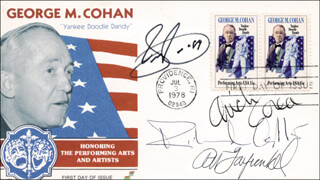 SAMMY CAHN - FIRST DAY COVER SIGNED 1989 CO-SIGNED BY: ART GARFUNKEL, CHICK (ARMANDO) COREA, RICHARD ADLER