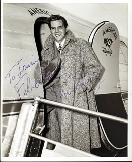 Autographs: DESI ARNAZ SR. - INSCRIBED PHOTOGRAPH SIGNED