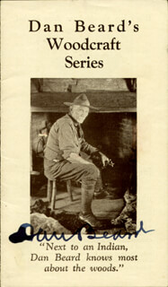Autographs: DANIEL C. BEARD - PAMPHLET SIGNED