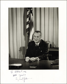 PRESIDENT LYNDON B. JOHNSON - AUTOGRAPHED INSCRIBED PHOTOGRAPH CIRCA 1964