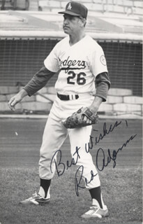 RED ADAMS - AUTOGRAPHED SIGNED PHOTOGRAPH