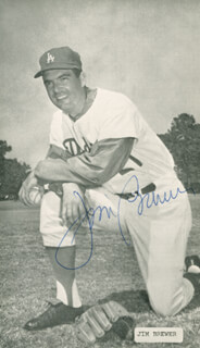 JIM BREWER - AUTOGRAPHED SIGNED PHOTOGRAPH