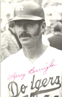 LARRY BURRIGHT - PICTURE POST CARD SIGNED