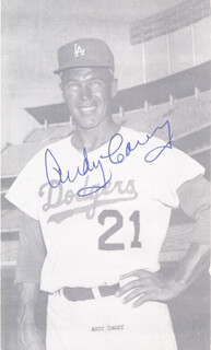 ANDY CAREY - AUTOGRAPHED SIGNED PHOTOGRAPH