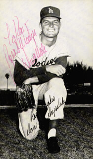 DON DRYSDALE - INSCRIBED PICTURE POSTCARD SIGNED