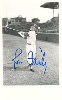 RON FAIRLY - PICTURE POST CARD SIGNED
