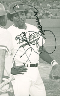PEDRO GUERRERO - AUTOGRAPHED SIGNED PHOTOGRAPH
