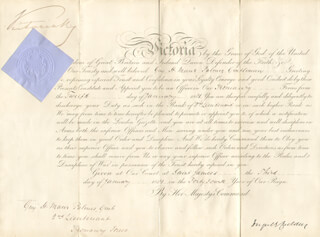 Autographs: QUEEN VICTORIA (GREAT BRITAIN) - MILITARY APPOINTMENT SIGNED 01/03/1881