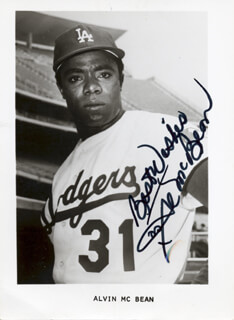 AL (ALVIN O'NEAL) MCBEAN - PRINTED PHOTOGRAPH SIGNED IN INK
