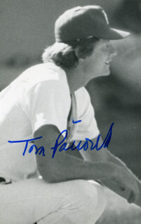 TOM PACIOREK - AUTOGRAPHED SIGNED PHOTOGRAPH