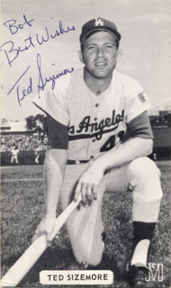 TED SIZEMORE - AUTOGRAPHED INSCRIBED PHOTOGRAPH