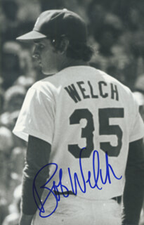 BOB WELCH - AUTOGRAPHED SIGNED PHOTOGRAPH