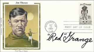 RED GRANGE - FIRST DAY COVER SIGNED