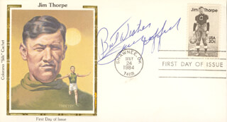 FRANK GIFFORD - FIRST DAY COVER WITH AUTOGRAPH SENTIMENT SIGNED