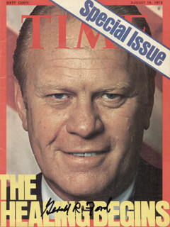 Autographs: PRESIDENT GERALD R. FORD - MAGAZINE SIGNED