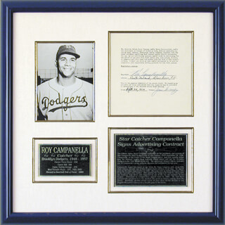 ROY CAMPY CAMPANELLA - DOCUMENT SIGNED 09/28/1956
