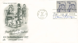 Autographs: CHIEF JUSTICE WARREN E. BURGER - FIRST DAY COVER SIGNED