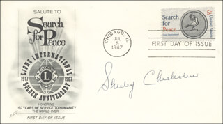 SHIRLEY CHISHOLM - FIRST DAY COVER SIGNED