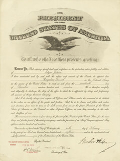 PRESIDENT WOODROW WILSON - MILITARY APPOINTMENT SIGNED 02/06/1918 CO-SIGNED BY: NEWTON D. BAKER