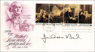JULIAN BOND - FIRST DAY COVER SIGNED