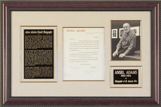 Autographs: ANSEL ADAMS - TYPED LETTER SIGNED 06/28/1961