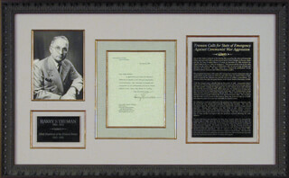PRESIDENT HARRY S TRUMAN - TYPED LETTER SIGNED 01/02/1951
