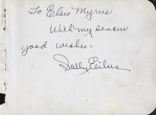 SALLY EILERS - AUTOGRAPH NOTE SIGNED CIRCA 1938