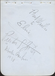 PRESTON S. FOSTER - AUTOGRAPH NOTE SIGNED CIRCA 1938