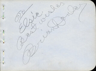 BRIAN DONLEVY - AUTOGRAPH NOTE SIGNED CIRCA 1938