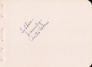 ANITA LOUISE - AUTOGRAPH NOTE SIGNED