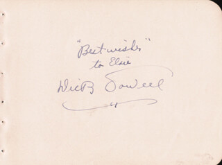 DICK POWELL - AUTOGRAPH NOTE SIGNED