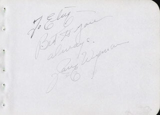 JANE WYMAN - AUTOGRAPH NOTE SIGNED