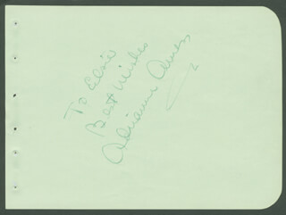 ADRIENNE AMES - AUTOGRAPH NOTE SIGNED
