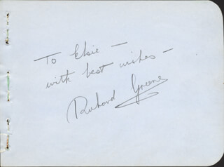 RICHARD GREENE - AUTOGRAPH NOTE SIGNED