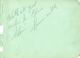 SLIM SUMMERVILLE - AUTOGRAPH NOTE SIGNED