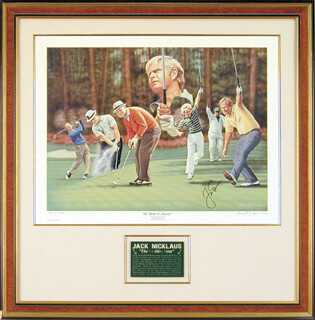 JACK NICKLAUS - PRINTED ART SIGNED IN INK CO-SIGNED BY: ALAN F. ZUNIGA