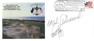 MARK CALCAVECCHIA - COMMEMORATIVE ENVELOPE SIGNED CO-SIGNED BY: PAUL AZINGER