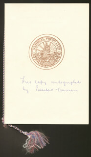 PRESIDENT HARRY S TRUMAN - INSCRIBED PROGRAM SIGNED CIRCA 1947