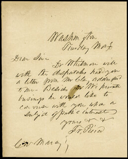 PRESIDENT FRANKLIN PIERCE - AUTOGRAPH LETTER SIGNED