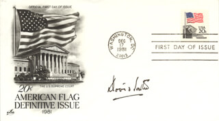 ASSOCIATE JUSTICE DAVID H. SOUTER - FIRST DAY COVER SIGNED