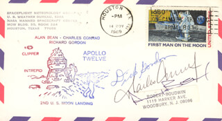 CAPTAIN CHARLES PETE CONRAD JR. - COMMEMORATIVE ENVELOPE SIGNED CO-SIGNED BY: CAPTAIN ALAN L. BEAN, CAPTAIN RICHARD F. DICK GORDON JR.