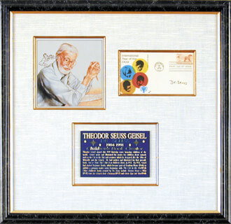 THEODOR DR. SEUSS GEISEL - FIRST DAY COVER SIGNED