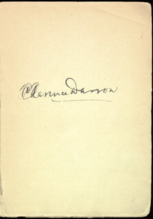 CLARENCE DARROW - BOOK SIGNED