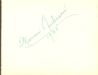 Autographs: MARIAN ANDERSON - SIGNATURE(S) 1938