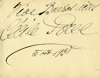 CECILE (COUNTESS OF SEGUR) SOREL - AUTOGRAPH SENTIMENT SIGNED 10/05/1930