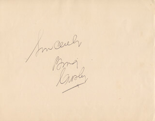 Autographs: BING CROSBY - AUTOGRAPH SENTIMENT SIGNED 1940 CO-SIGNED BY: SALVATORE BACCALONI