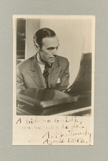 ALEXANDER BRAILOWSKY - AUTOGRAPHED INSCRIBED PHOTOGRAPH 08/1942