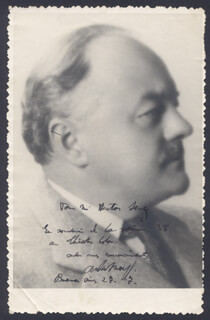 ALBERT LOUIS WOLFF - AUTOGRAPHED INSCRIBED PHOTOGRAPH 07/1927