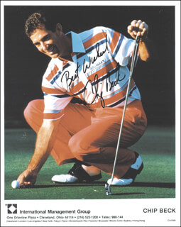 Autographs: CHIP BECK - PRINTED PHOTOGRAPH SIGNED IN INK