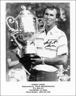 HUBERT GREEN - AUTOGRAPHED SIGNED PHOTOGRAPH